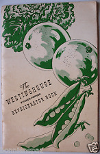 Vintage Westinghouse Refrigerator Book, Collectible Cook Booklet, Recipes, HTF