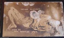 RPPC Mummy Ancient Rare Real Photograph Postcard