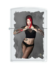 Zippo Lighter Sexy Girl Cervena Fox by Tony Read Trust No One