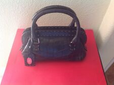FENDI SELLERIA$15000 BROWN CROCCODILE LIMITED EDITION HAND MADE EVENING BAG USED