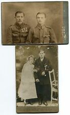 Antique Cabinet Photo Young couple Military Zloczow photographer Muller Poland