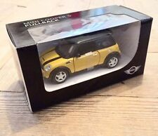 Miniature 1:36 Mini Cooper S R53 Mellow Yellow Genuine Car Model