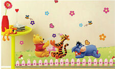 Decals Arts bear tiger kids diy print wall sticker.
