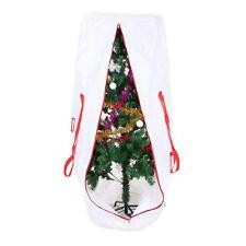 White Heavy Duty Holiday Xmas Tree Storage Bag Handles Zipper For Clean Up 9ft