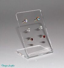 10 X CRYSTAL CLEAR  3MM ACRYLIC EARRING DISPLAY STANDS