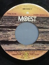 """TOM CLAY 45 RPM """"What the World Needs Now is Love"""" & """"The Victors"""" VG- Condition"""