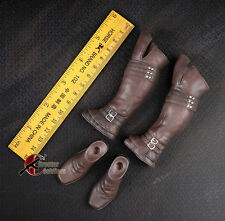 """1/6 Scale Leather Man Boots Shoes For 12"""" Male Action Figure Body"""