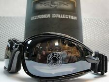 MOTORCYCLE ATV DIRT BIKE SPORT PADDED Day RIDING GLASSES Black GOGGLES Dark Lens