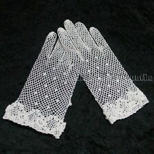 Victorian Edwardian Downton Abbey style white cotton gloves one size