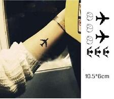 Removable Stickers Body Art Temporary Arm Tattoos Waterproof--Airplane