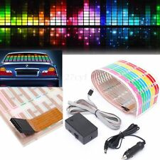90x10cm Sound Activated Car Sticker Equalizer Music Rhythm LED Flash Light Lamp