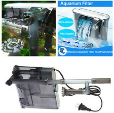 ULTRA SLIM HANG ON EXTERNAL AQUARIUM FISH TANK FILTER PUMP SKIMMER CASCADE FLOW