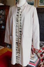 Fendi real fur jacket dress coat, sz 40 / 4