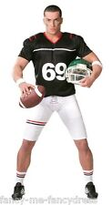 Mens American Football Quarterback Sports Fancy Dress Costume Outfit Size Large