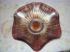 VINTAGE  AMETHIST  CARNIVAL GLASS  BOWL  9 1/2'' X 7 1/2''  NO CHIPS OR  CRACKS
