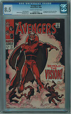 AVENGERS #57 CGC 8.5 1ST VISION CR/OW PAGES SILVER AGE