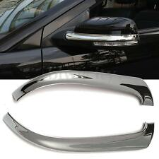 2Pcs Auto Car Chrome Rearview Mirror Decor Cover Trim For Ford Explorer 2016