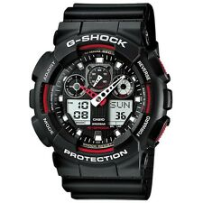 NEW RRP £100 Casio GA-100-1A4ER Mens G-Shock Combi Display Black Watch