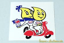 "Aufkleber ""Esso Oil Drop Couple"" Öl Scooter Roller Vespa Retro Oldtimer Sticker"