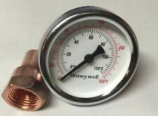 "Thermometer & Copper Kit For Moonshine Still Keg Column. 1/2"" Npt Thread"