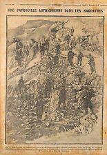 Patrol Austria Soldiers Carpathian Mountains Carpathians Hungary  WWI 1914