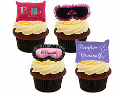 Pamper Party Edible Cupcake Toppers, Standup Fairy Cake Bun Decorations, Girl