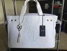 NWT Armani Jeans Handbag PVC  White Color
