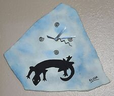 Lizard Wall Clock: Original Flagstone Painting Art Clock By Elissa Dawn Shakal
