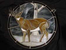 Original Handcrafted Stained Glass Deer Piece - 17 inch