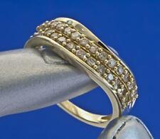 A SOLID 18ct GOLD 0.50ct NATURAL DIAMOND CURVED BAND RING SIZE N/O (US 7)