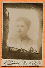 Grand Forks, ND, Portrait of a Young Woman, by Holand, circa 1890s