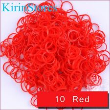 New 600 PCs 24 Clip Refills Bands Refill For Loom Rainbow Bracelet Dress Making