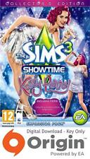 THE SIMS 3 SHOWTIME KATY PERRY COLLECTOR'S EDITION PC AND MAC ORIGIN KEY