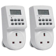 [2 Pack] 24 Hour 7 Day Switch Socket Electronic Digital Timer with LCD Display