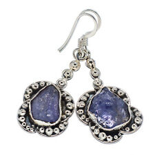 "Rough Tanzanite 925 Sterling Silver Earrings 1 5/8"" Ana Co Jewelry E314064F"