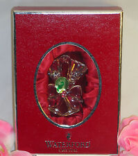 New Waterford Lead Crystal Lismore Champagne Flutes Christmas Tree  Ornament