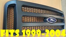 Ford MATTE BLACK Grille CONVERSION fit 1999-2004 Super Duty F250 F350 F450 F550
