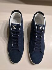 Louis Vuitton 'Fuselage' High-Top Navy Suede Sneaker Size LV 8.5