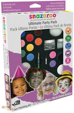 SNAZAROO Ultimate Party Pack Face Paints approx 50 Faces - Brushes Sponges Book