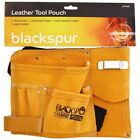 """LOOK"" - Builders 10 Pocket Leather Tool Belt Pouch Storage 2 Loops UK STOCK"