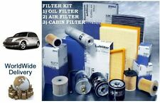 FOR CHRYSLER PT CRUISER 2.0i 00-2004 SERVICE SET OIL AIR POLLEN FILTERS (3) KIT