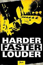 Fender : Harder Faster Louder - Maxi Poster 61cm x 91.5cm (new & sealed)