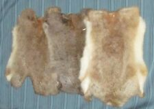RABBIT SKIN GENUINE NATURAL FUR PELT LEATHER HIDE CRAFTS DECO Large & Soft!