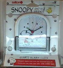 Peanuts Snoopy & Woodstock Salton Quartz Alarm  Clock Mint In Box