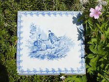 Carreau de Faïence Creil et Montereau Décor Romantique