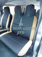 TO FIT A CITROEN DISPATCH VAN, 2008, SEAT COVERS, GRAPHITE + TAN SUEDE 1S +1D