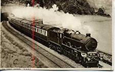 The Torbay Express GWR Castle Class Dawlish Devon 1930s Photochrom postcard