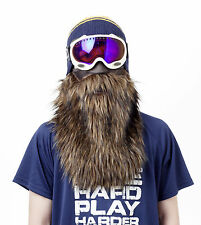 Brown Beard Half Neoprene Face Mask Ski Snowboard Motorcycle Biker Warm Funny