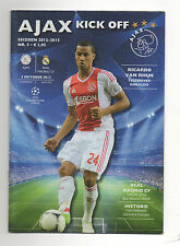 Orig.PRG   Champions League  12/13   AJAX AMSTERDAM - REAL MADRID CF  !!  RARE