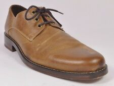 Cole Haan CAMBRIDGE Mens Lace-up Plain Oxford Shoes Size 10 British Tan USED
